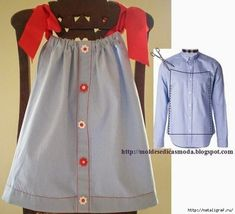 Ways to Make Children's Clothes from Unused Shirts - Kindermode Ideen Fashion Kids, Diy Fashion, Classy Fashion, Fashion Sewing, Punk Fashion, Fashion Models, Fashion Dresses, Old Shirts, Dad To Be Shirts