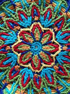 Free Overlay Crochet Mandala Patterns   Ravelry: Project Gallery for Overlay Mandala No. 1 ...   mas crochet