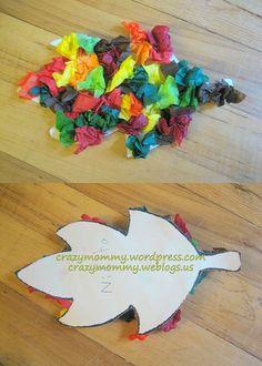 Simple Autumn leaf craft