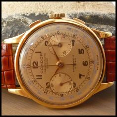 Nothing beats the style of a vintage chronograph - 1940's CHRONOGRAPHE SUISSE Vintage Chronograph Watch HW Landeron Cal. 152; 38mm