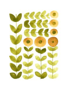 SUNFLOWER FIELDS Limited edition Art Print round by onceuponapaper, $25.00