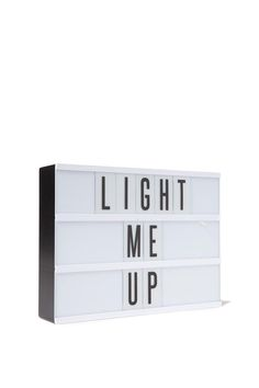Lighten up with the famous Typo light box! Personalise the heck out of your space or party with 69 letters to play around with. The absolute stand out party prop, but be warned... party goers will spell out cheeky words and at Typo, we endorse this behaviour.  Size: 30cm x 22cm Material: Plastic Features / Inclusions: Includes light box and 69 letters and symbols. Requires 6 x AA batteries or A/C adapter (batteries not included) Safety info: Do not keep turned on for extended periods of…