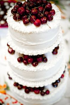 door county cherry cake<-----I have found my wedding cake!!!!!!