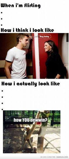 I don't flirt, but I would probably look like that if I did... XD
