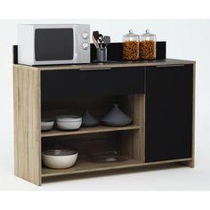 MIKE Range-tout cuisine 1 porte 1 tiroir 2 niches - Achat / Vente DESSERTE - BILLOT Range tout MIKE - Soldes* Cdiscount