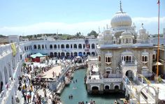 A large number of Sikh pilgrims had gathered this year at Gurdwara Punja Sahib in Hasanabdal for the Baisakhi festival. PHOTO: APP