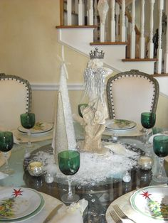 Christmas dinner party table