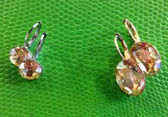 Gorgeous Swarovski and sterling handcrafted earrings.  $24 and $26 #swarovski