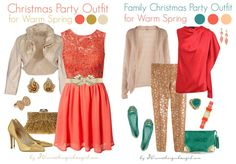 warm spring outfits | Romantic Christmas party outfits for Warm Spring and Warm Autumn