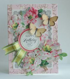 ©Anna Griffin, Inc. Floral Impressions Card Making Kit- this crafting kit includes everything you need to make 48 beautiful cards for every occasion! Anna Griffin Inc, Anna Griffin Cards, Making Greeting Cards, Greeting Cards Handmade, Butterfly Cards, Flower Cards, Pretty Cards, Cute Cards, Happy Birthday