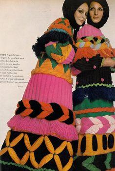 Vogue US, September 1969  Photographer: Gian Paolo Barbieri  Models: Mirelli Pettini & Berkley Johnson  Angelo Tarlazzi, Fall 1969 @Karyn Armour