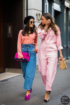 London SS 2018 Street Style: Anna Rosa Vitiello and Florrie Thomas #streetclothing