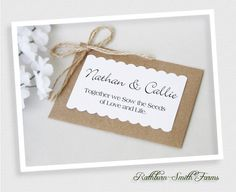 75 Customized Eco Wedding Party Favors, Flower Seed Favor, Handmade Packet