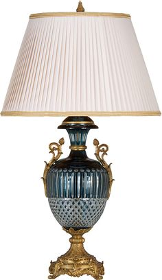 Crystal and brass antique lamp By Dreams