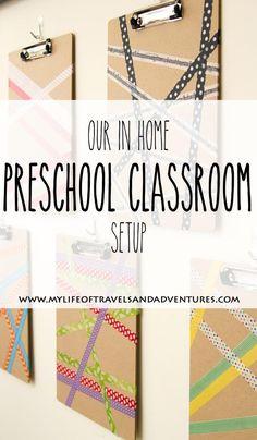 Our In Home Preschool Classroom Setup #Preschool #Homeschool