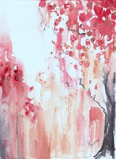 Cherry Blossoms, gorgeous / from http://www.shadetreegallery.com/portfolio/Abstracts/burst.html