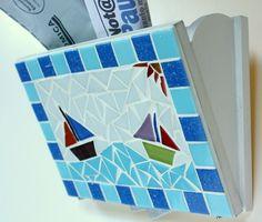 Porta Cartas-Celular Mosaico Barcos