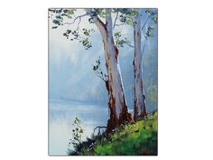 TUMUT RIVER PAINTING Australian artwork by GerckenGallery on Etsy, $249.00