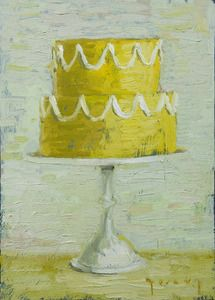 Many cake paintings here, would be a great DIY art for kitchen/dining/kids room.