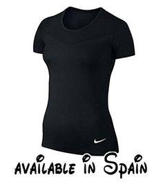 B010EE83UK : Nike Pro Hypercool SS - Camiseta para mujer color negro / blanco talla S. Material Dri-FIT para Sequedad y comodidad. Material de malla especialmente desarrollado garantiza una refrigeración confortable. Costuras planas que proporcionan un suave al desgaste