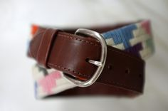 Diy: needlepoint belt - tutorial #stitches