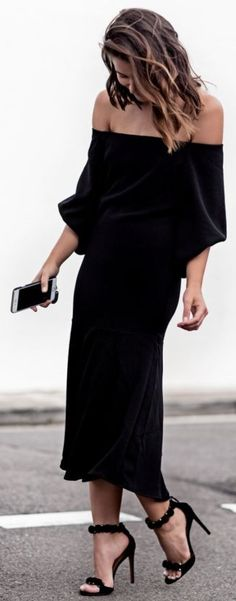 Total Black Chic Spring Street Style #black #street -style  #total