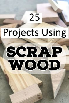 A collection of simple yet useful projects using scrap wood. These easy DIY scrap wood projects are great for beginner woodworking.
