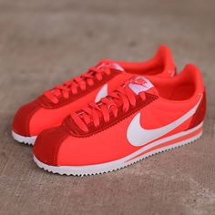 The Nike Women's Classic Cortez Basic Nylon in pink is available on CityGear.com