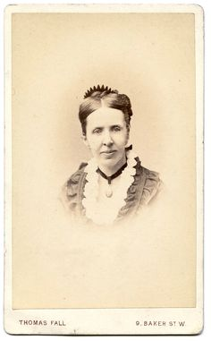 Carte de visite indentified as 'Cousin Jane' by Thomas Fall of Baker Street, London.
