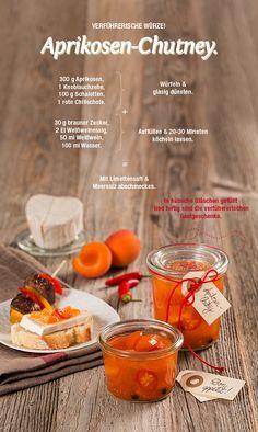 Ein fruchtiges Rezept für köstliches Aprikosen-Chutney. Unser Tipp: Vor allem auf Käse ein absoluter Genuss!