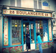 Boulangerie 28, bakery with the beautiful portal, is located on Boulevard Beaumarchais in the 11th arrondissement.