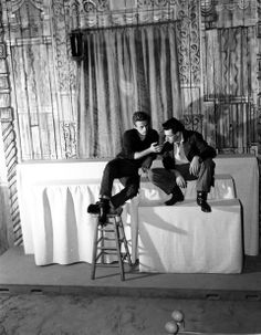 James Dean and Leonard Rosenman