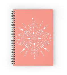A personal favorite from my Etsy shop https://www.etsy.com/listing/454786982/coral-pink-mandala-notebook-pink-journal