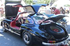 Mercedes Gullwing. (Look at the size of that spare tire)!