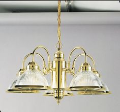 Westinghouse 66054 5 Light Down Lighting Chandelier Polished Brass Indoor Lighting Chandeliers