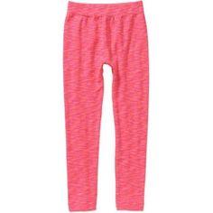 One Step Up Girls' legging Got It Fleece-lined Space Dye Seamless Leggings, Size: 12/16, Pink