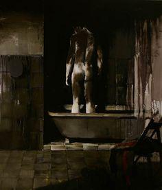 "Adrian Ghenie - ""The Bath"", 2007, oil on canvas, 120 X 100 cm"
