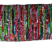 Stripe fabric cushion