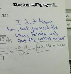 this is 100% my relationship with math. i continue to amaze those below my higher levels of thinking. xD