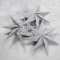 7-taggad stjärna av kvadratiska papper | Pysseltips