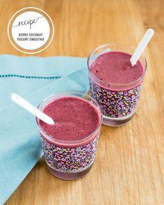 Lavender-Berry Smoothie with Coconut Yogurt