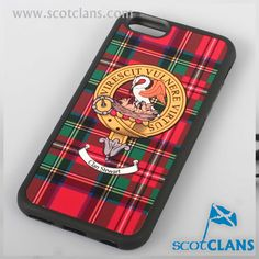 83df76e022998f Stewart Clan Crest and Tartan iPhone 6 Case. Free worldwide shipping  available Scottish Clans,