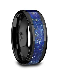 Thorsten Multiple Fishing Hook Pattern Ring Flat Tungsten Ring 8mm Wide Wedding Band from Roy Rose Jewelry