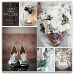winter white wedding by kate. minted's wedding inspiration board challenge.