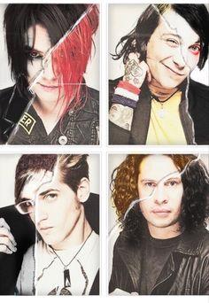 12. Het Concept voor het boek is uitgevonden door Gerard Way (links boven), hij was Lead zanger van 'My Chemical Romance'. De band ging op 22 maart 2013 uitelkaar.