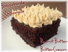La estrella en ésta receta es el buttercream de maní.     A mi esposo le gustó el cake ya que no queda muy dulce,   y como es fanático de...