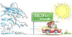 You gotta embrace the unexpected.My column in Texas Highways magazine, Illustration by Michael Witte.