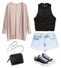 """Casual outfit"" by snhollick ❤ liked on Polyvore featuring MANGO, Abercrombie & Fitch and Converse"