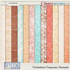 Trinketbox Treasures: Damask Papers