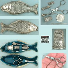 circa 1870 - Antique Silver Sewing Etui